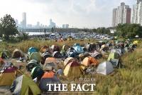 [TF포토] 2017 여의도 불꽃축제 기다리는 텐트촌