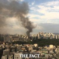 <속보> 선정릉역 부근 고층 건물 화재