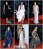 [TF포토] 화려한 드레스의 향연…'대종상 빛낸 여배우들'