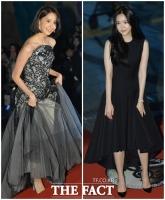 [TF포토] '누가 더 예뻐요?'…윤아-손나은, '걸그룹 미모 전쟁'