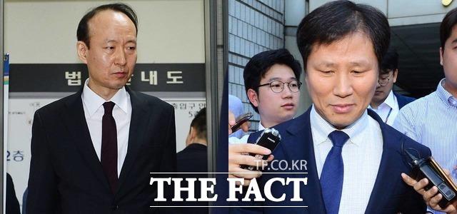 이재만 전 청와대 총무비서관(왼쪽)과 안봉근 전 국정홍보비서관이 31일 검찰에 긴급체포됐다. /더팩트DB
