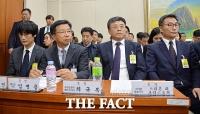 [TF포토] 이해진·임병용 등 '공정위원장 앞에 선 정무위 증인들'