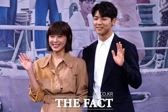 배우 하지원 강민혁(오른쪽)은 2일 종영된 MBC 수목드라마 병원선에서 주연배우로 활약했다. /남윤호 기자