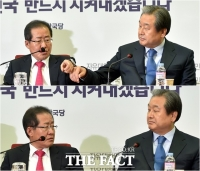 [TF사진관] 홍준표-김무성, '벌써부터 주도권 싸움?'