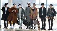 [TF포토] '무지개 매력' 방탄소년단, '미국 접수하러 갑니다~'