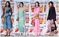 [TF포토] 한혜진-고소영-설리-김나영, '완판녀들의 패션 대결'