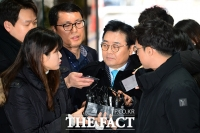 [TF포토] '레이저 눈빛에 여유?' 영장 실질심사 출석하는 전병헌