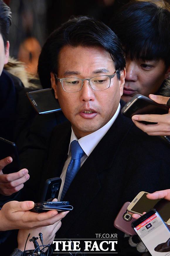 검찰은 이르면 8일 이명박 정부 시절 안보실세로 불린 김태효 전 청와대 대외전략비서관에 대한 구속영장을 청구할 것으로 보인다. /남용희 기자