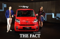 [TF포토] 기아자동차, 신차급으로 개선된 '더 뉴 레이 출시'