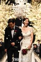 [TF포토] 12월의 신부 정인영, '아름다운 웨딩마치'