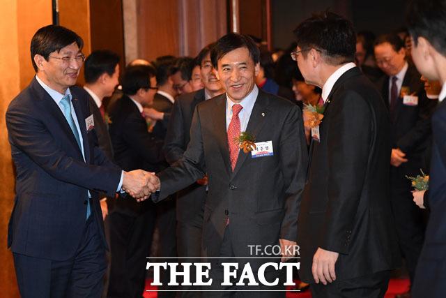 2018년 범금융 신년인사회 참석하는 이주열 한국은행 총재
