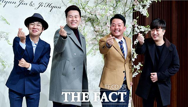 개그맨 홍인규, 변기수, 김준호, 정명훈(왼쪽부터)