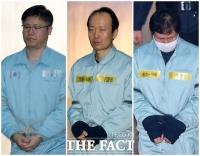 [TF포토] 수감자가 된 '문고리 3인방'