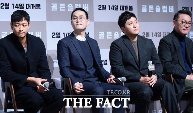 배우 강동원, 김성균, 김대명, 김의성(왼쪽부터)