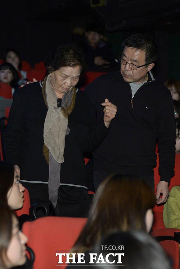 이한열 열사의 어머니 배은심 여사(왼쪽) 박종철 열사의 형 박종부 씨