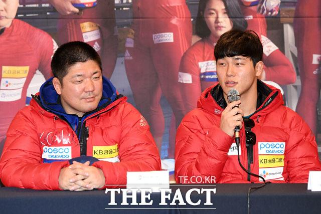 이용 총감독과 윤성빈 선수