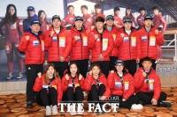 [TF포토] '금2 동1' 전의 다지는 봅슬레이-스켈레톤 대표팀