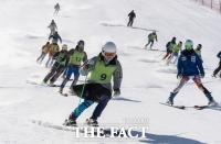 [TF포토] 남북공동훈련 펼쳐지는 마식령 스키장