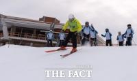 [TF포토] 알파인스키로 하나된 남북 국가대표 선수들