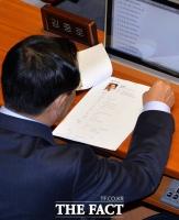 [TF삐컷] 이력서 살피는 '김중로 국민·바른 인재영입위원장'