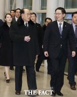 [TF포토] 2박 3일 일정 마친 김여정-김영남 '전용기 타고 북으로'