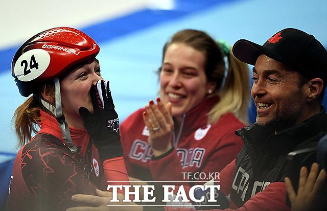 최민정의 실격으로 행운의 동메달을 받게 된 캐나다의 킴 부탱