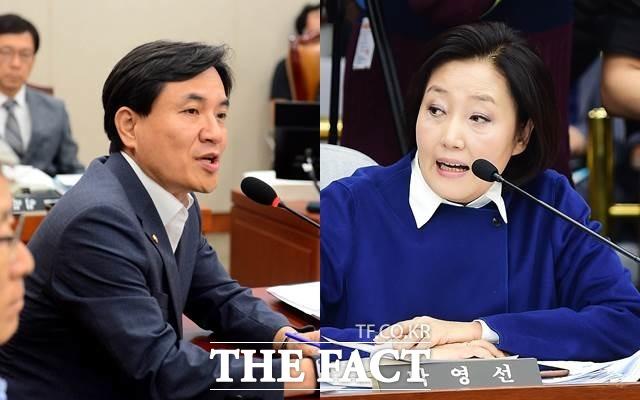 김진태 자유한국당 의원이 최근 올림픽 특혜 출입 논란에 휩싸인 박영선 의원에 대해 형사고발까지 언급하며 강공을 펼치고 있다. /더팩트DB