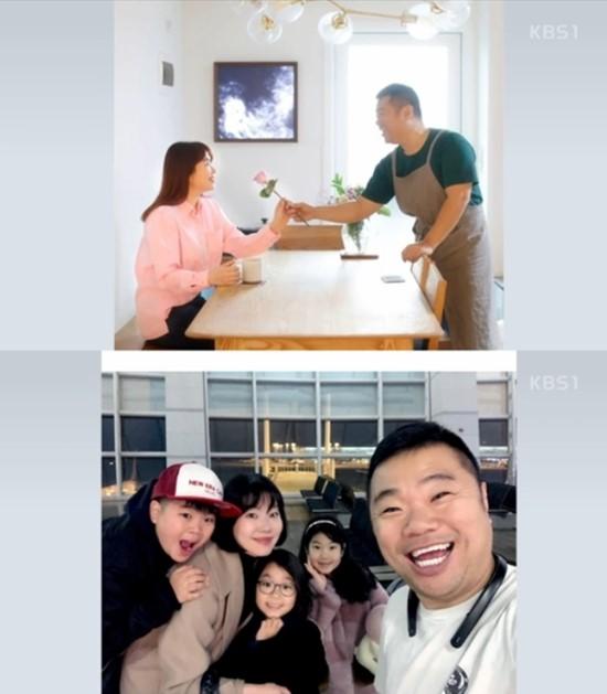 정종철(위 오른쪽)은 과거 아내 황규림의 산후 우울증 극복을 도와주기 위해 활동을 중단하고 집에서 요리를 시작했다. /KBS 2TV 아침마당 방송화면 캡처