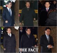 [TF포토] 이명박 전 대통령 자택으로 모이는 측근들