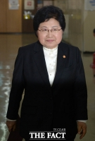 [TF포토] '미투 간담회' 참석하는 정현백 여가부 장관