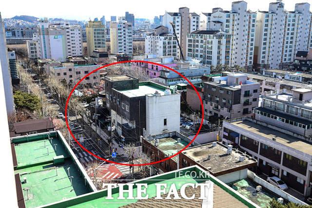 서울 동대문구 장안동 서울지방경찰청 보안수사2대는 주택단지에 둘러싸여 있다.