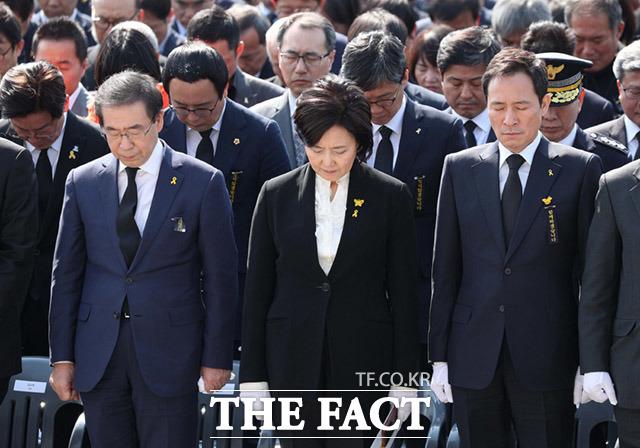 박원순 서울시장과 박영선, 우상호 더불어민주당 서울시장 예비후보(왼쪽부터)