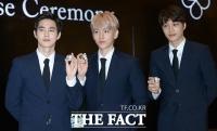 [TF포토] 엑소 수호-백현-카이, '얼굴 열일하는 세 남자'