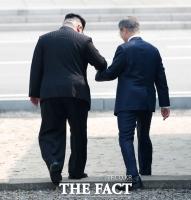 [남북정상회담] 문재인 대통령 깜짝 '월북'