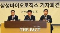[TF포토] '분식회계 아니다!'…삼성바이오로직스 긴급 기자회견