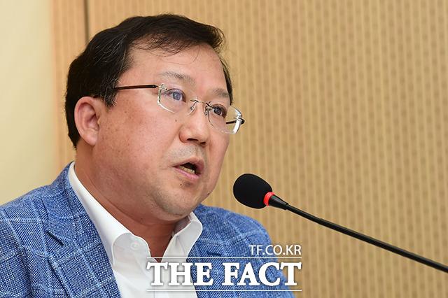 발언하는 김민구 더팩트 편집국 부국장/ 남용희 기자