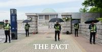 [TF포토] 김성태 폭행 사건 이후 '강화된 국회 경비'