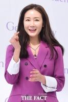 [TF포토] 최지우, '새신부의 보랏빛 하트'