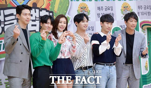 선발대인 최정원과 조타, 한은정, 임현식, 서은광, 오만석(왼쪽부터)
