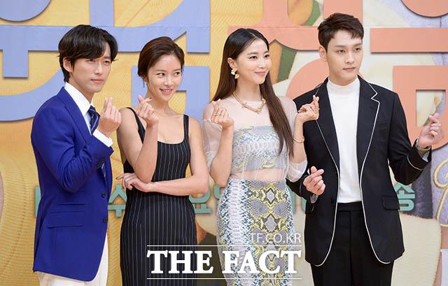 배우 남궁민과 황정음, 오윤아, 최태준(왼쪽부터)