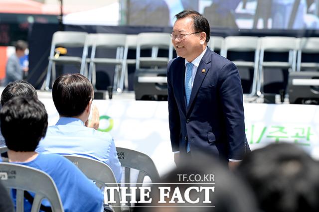 행사에 참석한 행정안전부 장관 김부겸