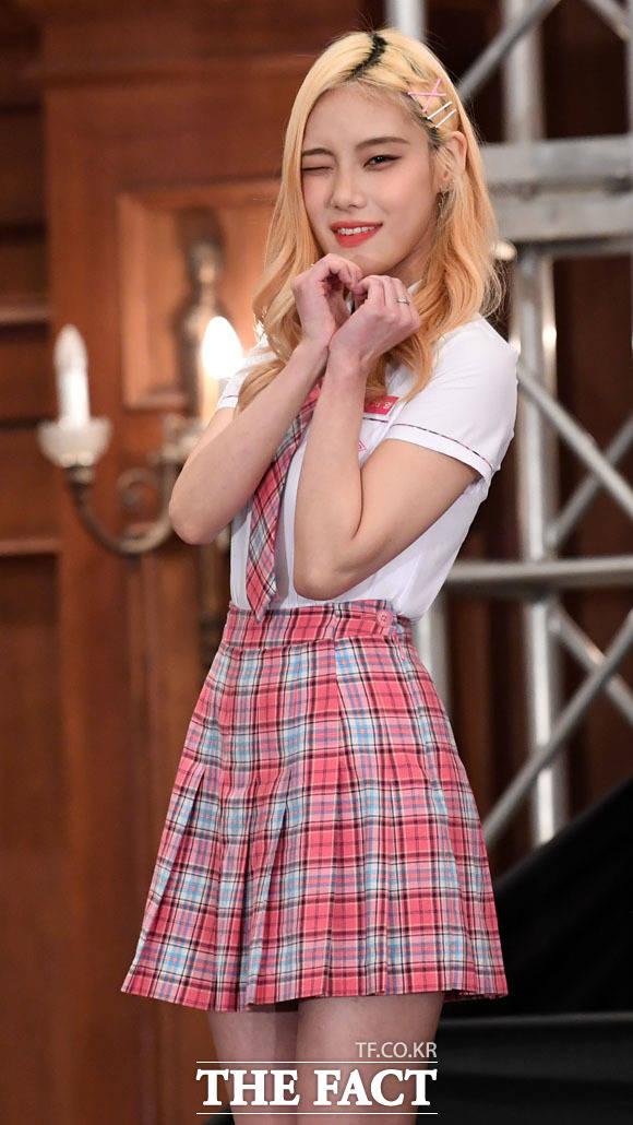 금발 미녀, 박서영 연습생