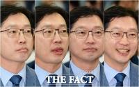 [TF포토] 김경수, '출구조사 발표에 숨길 수 없는 표정'