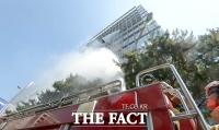 [TF포토] '고층 건물에서 화재가?'…실전 같은 재난대비 훈련