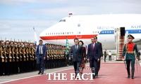 [TF포토] '러시아 국빈방문' 문재인 대통령, 모스크바 공항 도착