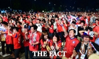 [TF사진관] '끝날 때까지 포기하지 않은 붉은악마'