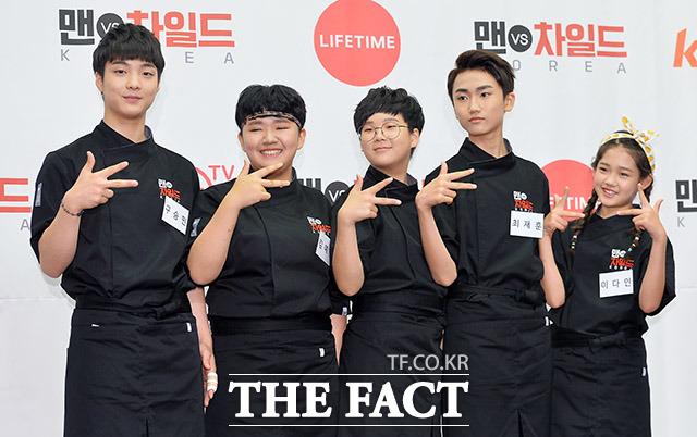 차일드 셰프 구승민과 김예림, 김한결, 최재훈, 이다인(왼쪽부터)