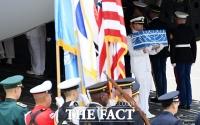 [TF포토] 정전협정 65년... 돌아온 미군 전사자 유해