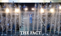 [TF포토] 싸이도 흠뻑 젖은 '160톤 물대포의 매력!'