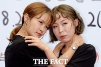 [TF포토] 김지민-오나미, 우리가 '부코페' 미녀 홍보요정~